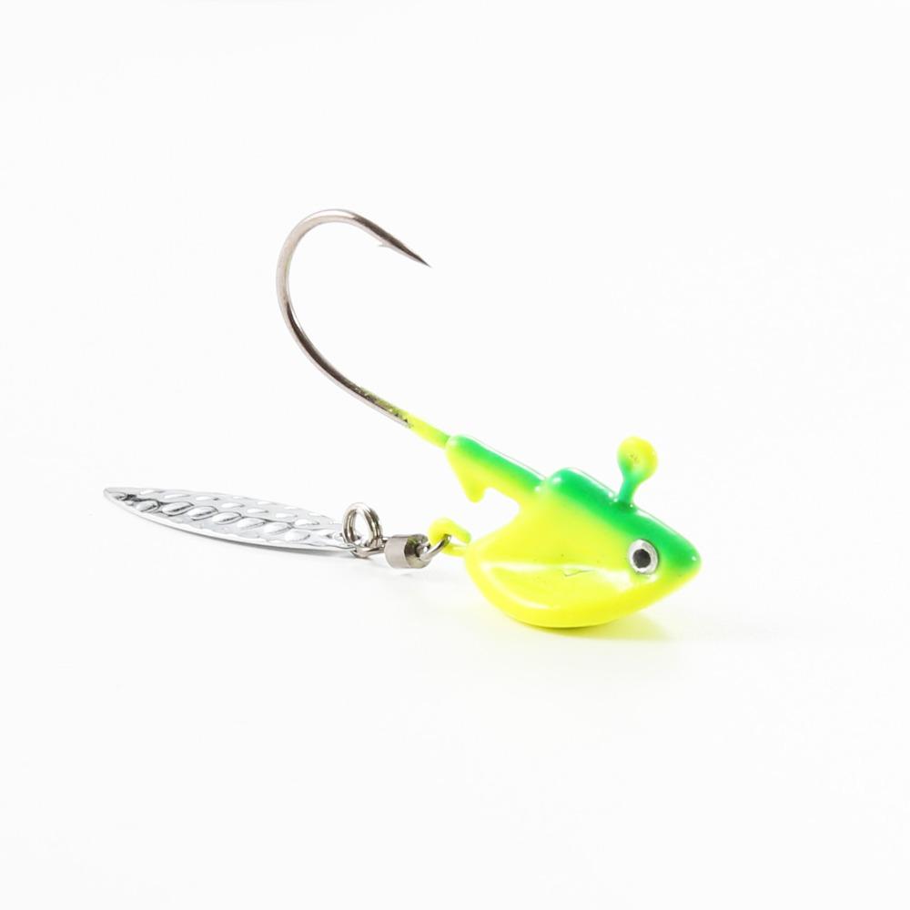 10x Exposed Lead Jig Head 3g Barbed Hook Soft Lure Jigging Hook Fishing Hooks ZP